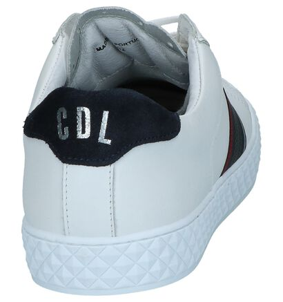 Cycleur de Luxe Chaussures basses en Blanc en cuir (240922)