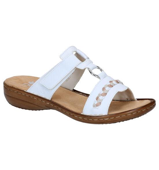 Rieker Nu-pieds à talons en Blanc