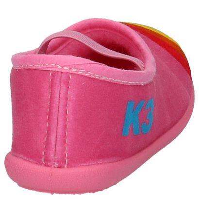 K3 Pantoufles fermées en Rose en textile (202784)