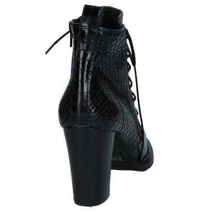 Zinda Bottillons en Noir en cuir verni (226939)