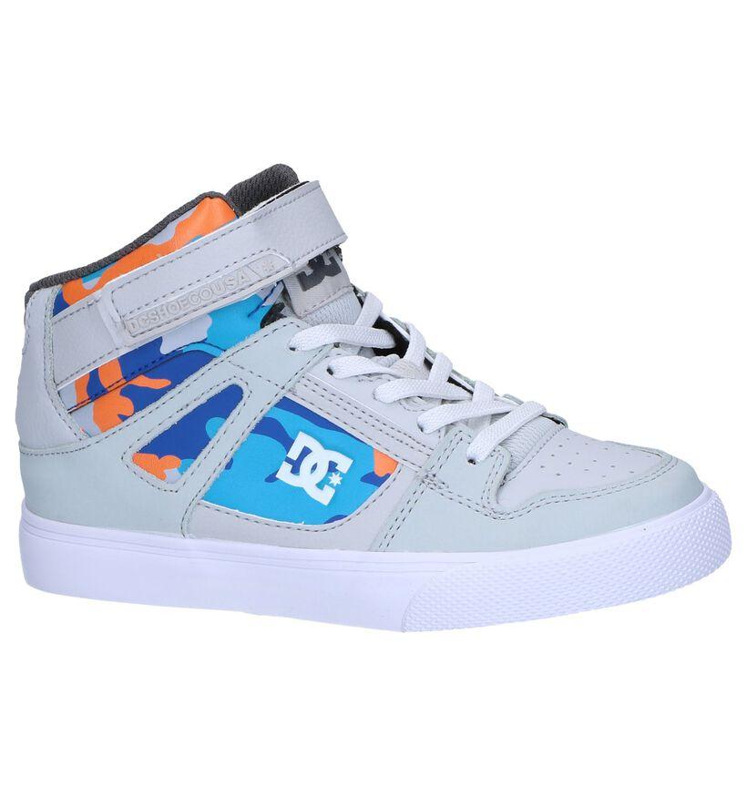 DC Shoes Pure High Top Blauwe Sneakers in kunstleer (274391)