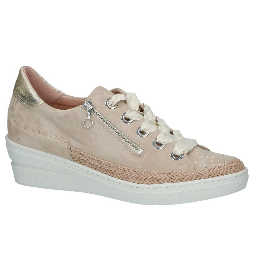 Softwaves Chaussures à lacets en Beige en daim (217171)