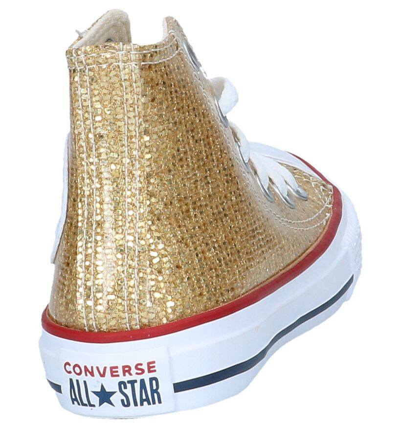 Converse Chuck Taylor All Star Baskets hautes en Or en simili cuir (200201)