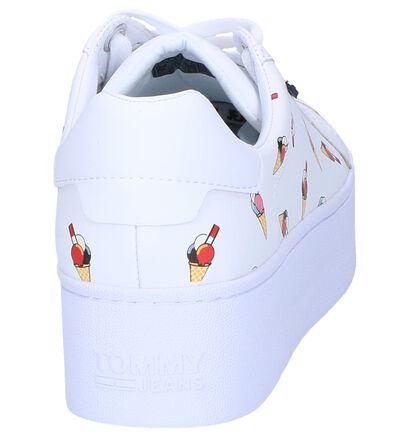 Witte Sneakers Tommy Hilfiger in kunstleer (241773)