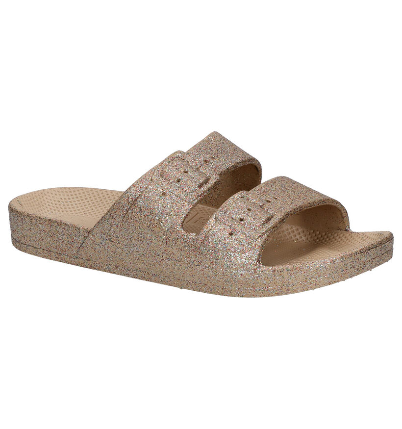 Freedom of Moses Celeste Sands Gouden Slippers in kunststof (276016)