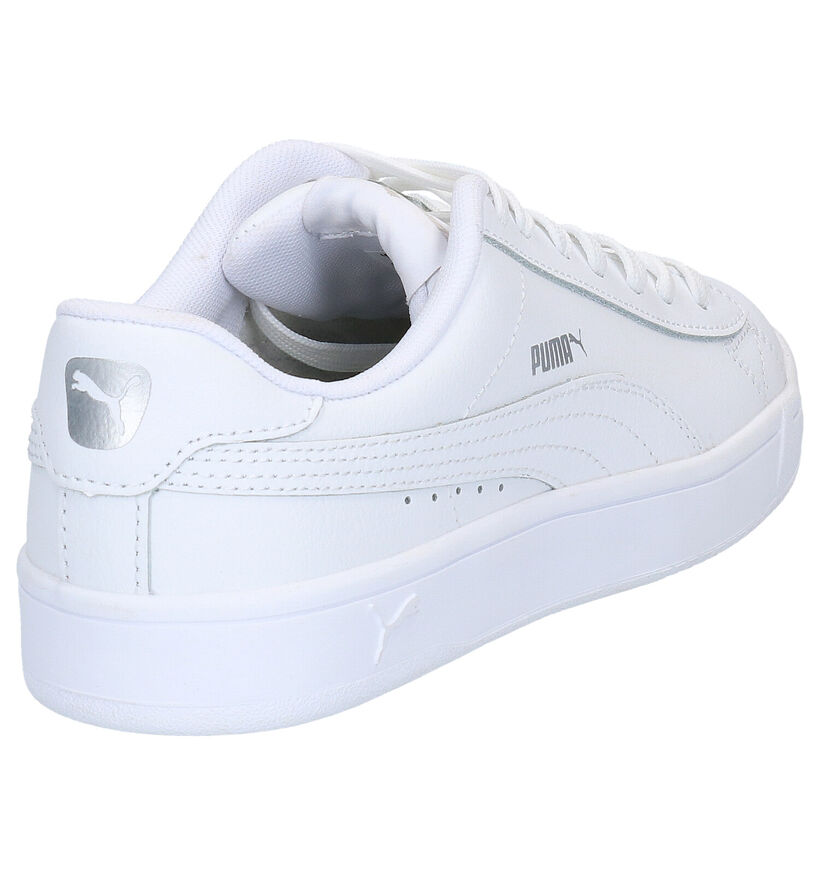 Puma Court Breaker Baskets en Blanc en cuir (265748)