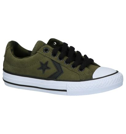 Kaki Lage Sportieve Sneakers Converse Star Play Ox in stof (210275)