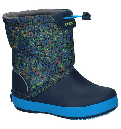 Crocs Crocband Lodgepoint Graphic Blauwe Snowboots in kunststof (224402)