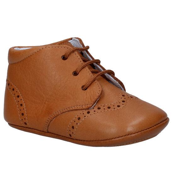 Beberlis Pehoe Chaussures Bébé en Cognac