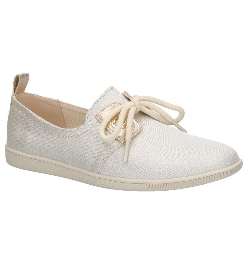 Armistice Stone One Chaussures à Lacets en Or en textile (271207)