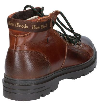 River Woods Bottines en Cognac en cuir (260318)