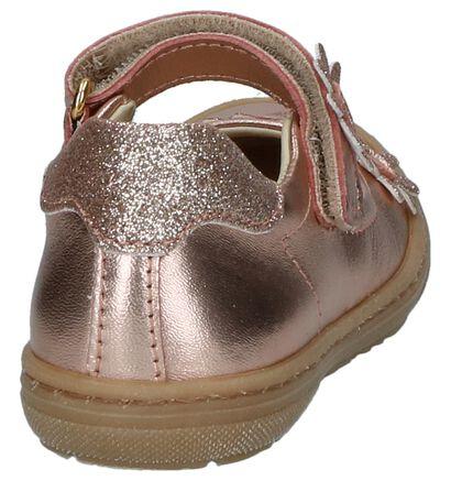 Ballerina's Lunella Metallic Roze in leer (245613)