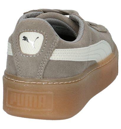 Puma Suede Platform Baskets basses en Gris en nubuck (209905)