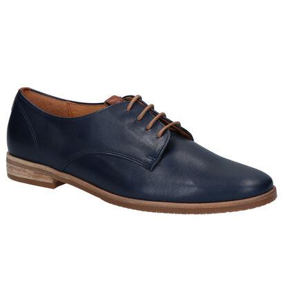 Gabor Comfort Blauwe Veterschoenen in leer (271681)