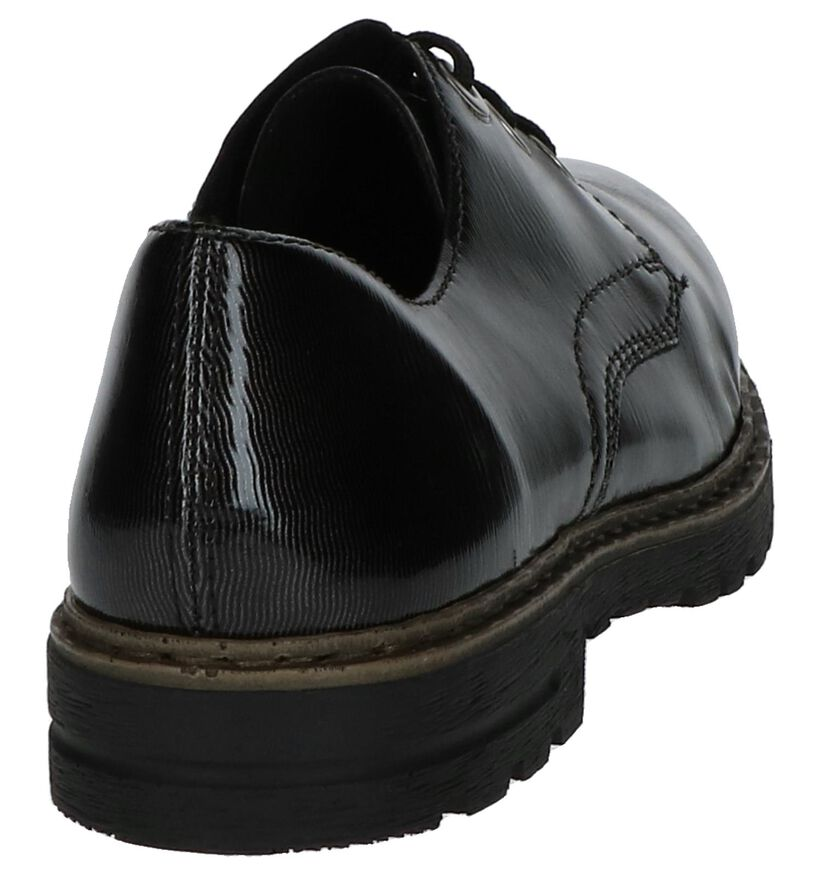 Rieker Chaussures à lacets en Gris foncé en cuir (222522)