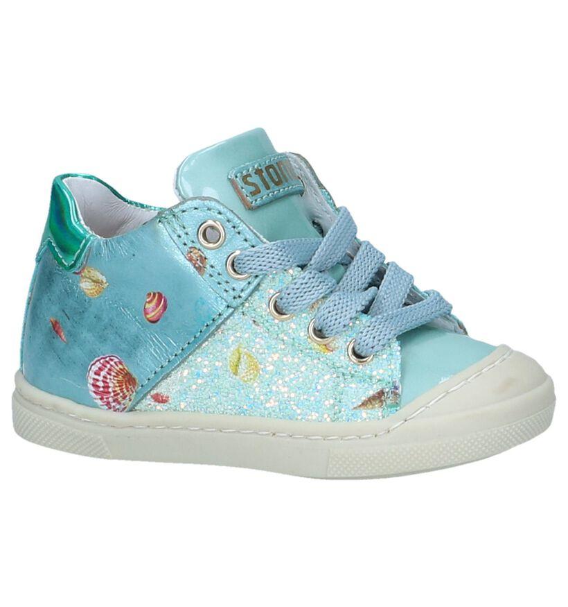 STONES and BONES Chaussures pour bébé  en Bleu clair en cuir (240720)