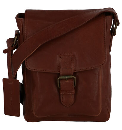 Via Borgo Ranger Zwarte Crossbody Tas in leer (235343)