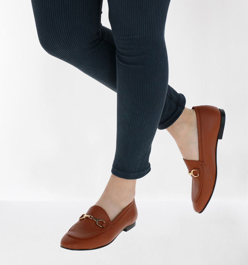 Via Limone Cognac Loafers in leer (281555)