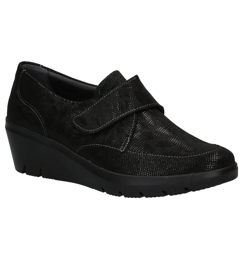 Hush Puppies Romio Chaussures à velcro en Noir en daim (292699)