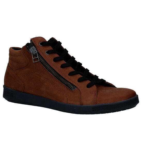 Mirel Chaussures à lacets en Cognac