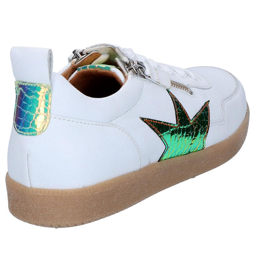 Gabor Best Fitting Witte Lage Sneakers in leer (271716)