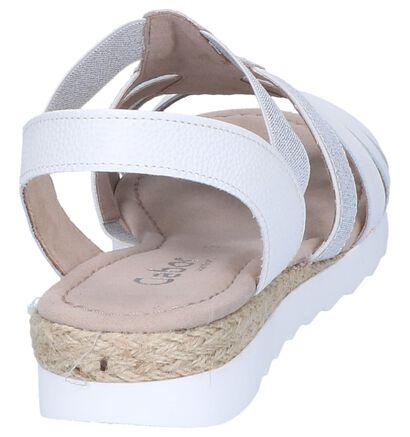 Gabor Sandales plates en Blanc en cuir (245551)