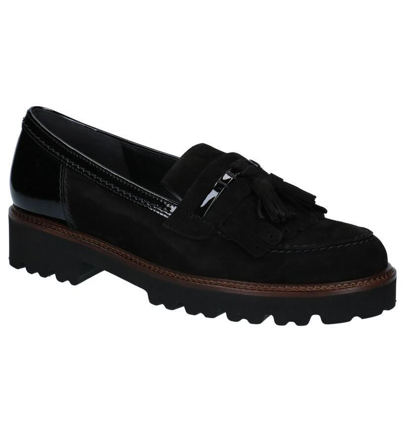 Gabor Best Fitting Zwarte Loafers in lakleer (282292)