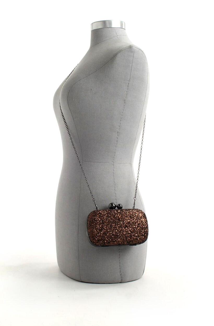 Bronzen Clutch met Glitters Bulaggi in kunstleer (206763)