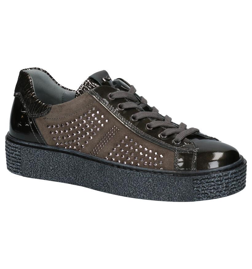 NeroGiardini Chaussures à lacets en Gris en daim (259807)
