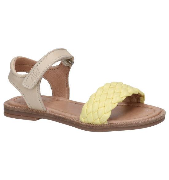 Clic! Sandales en Jaune clair