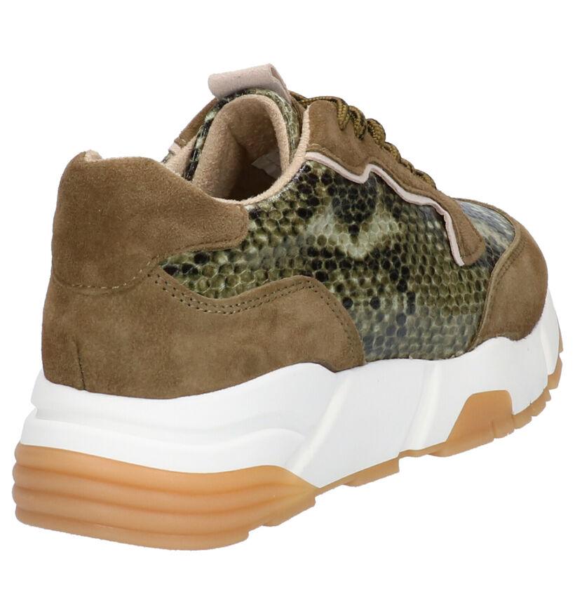 Tamaris TOUCH it Kaki Sneakers in daim (265595)