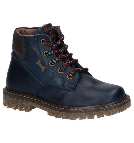 STONES and BONES Bonte Blauwe Boots