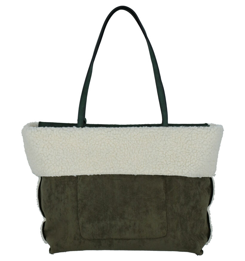 Emily & Noah Kaki Shopper in faux fur (260879)