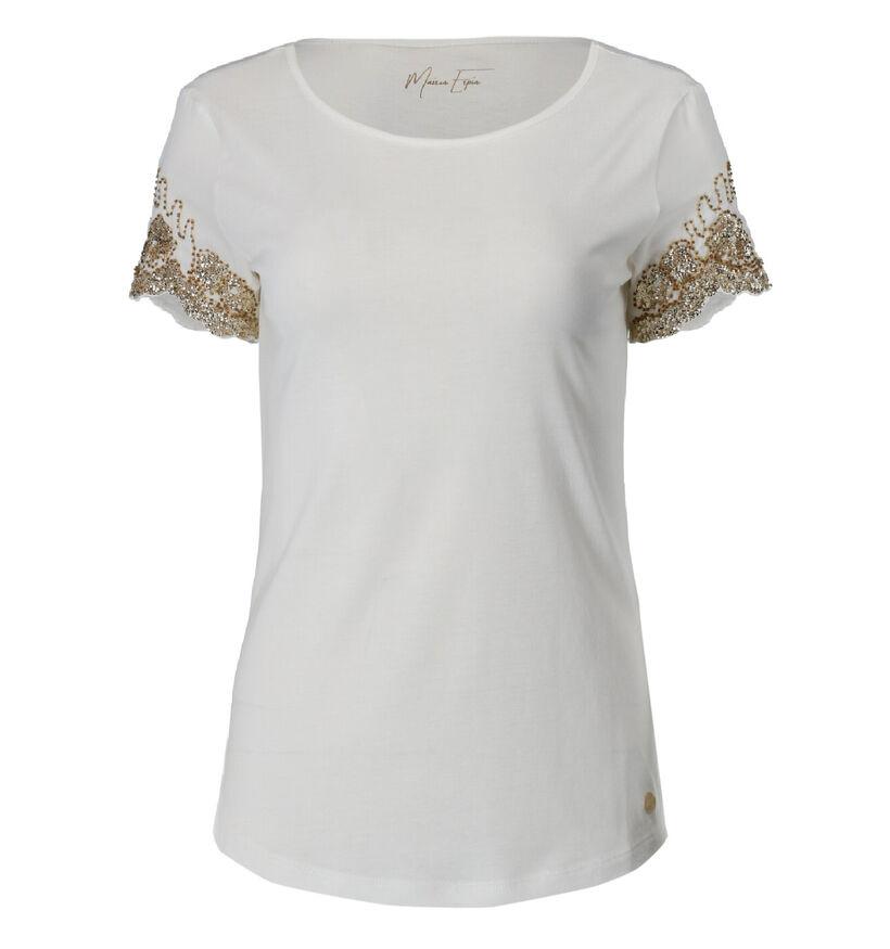 Maison Espin T-shirt en Écru (277940)