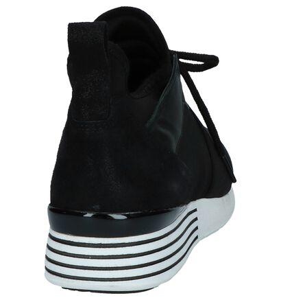 Hip Zwarte Slip-on Sneakers in leer (233962)