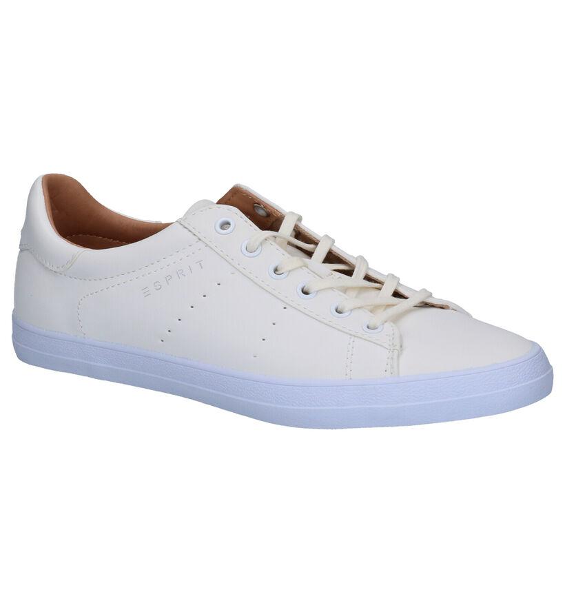 Esprit Chaussures à lacets en Écru en simili cuir (275610)