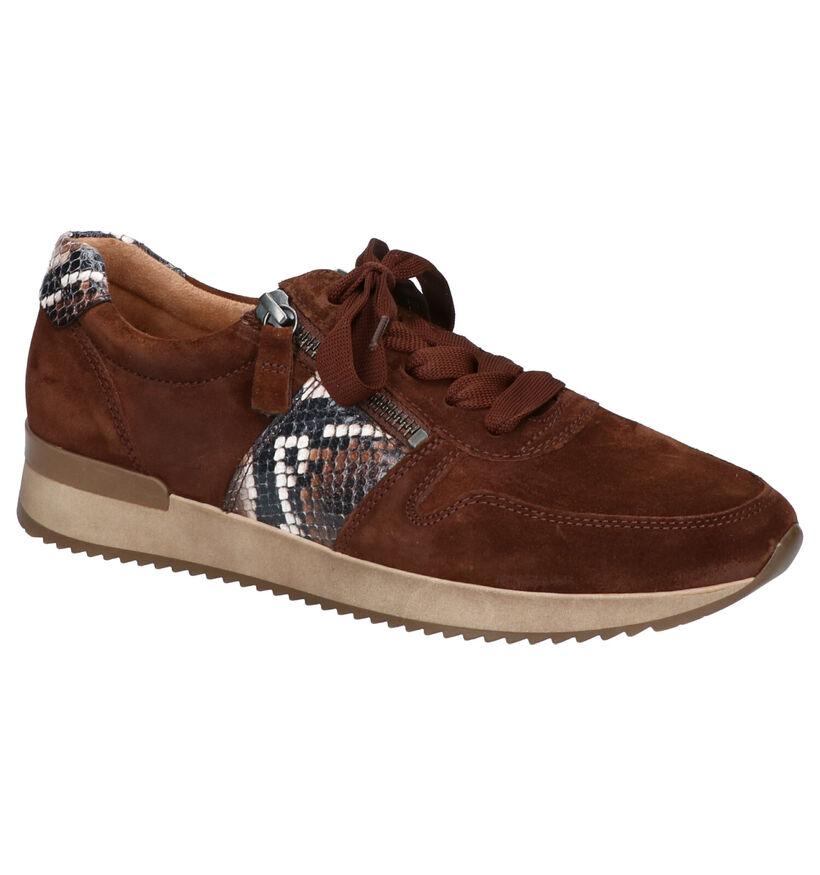 Gabor Best Fitting Gele Sneakers in daim (260217)