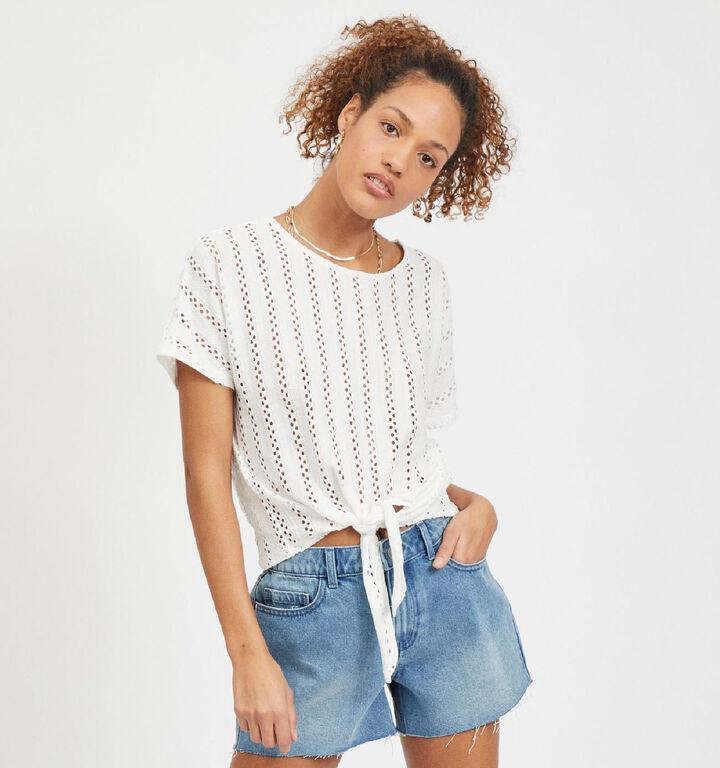 Vila Piline T-Shirt en Blanc