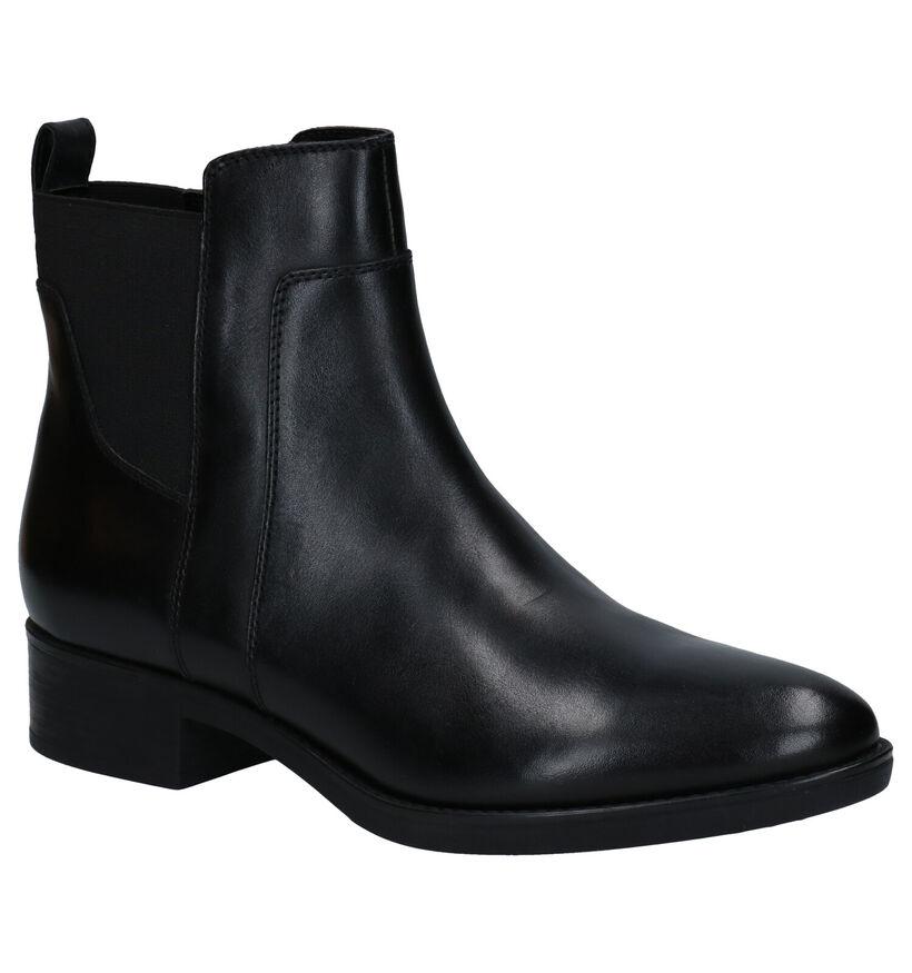 Geox Zwarte Chelsea Boots in leer (278873)