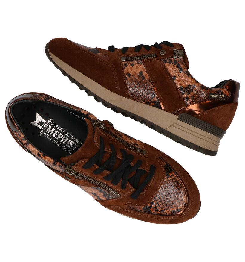 Mephisto Toscana Chaussures à lacets en Cognac en cuir (280988)