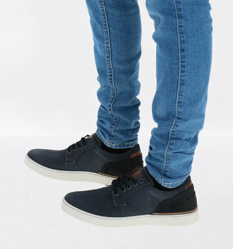 Bullboxer Chaussures basses en Noir en textile (300222)