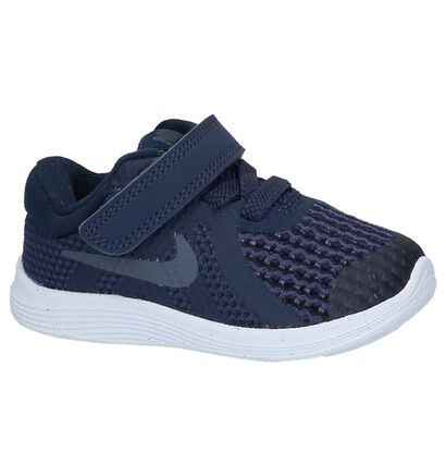 Nike Revolution Baskets basses en Bleu foncé en textile (219610)