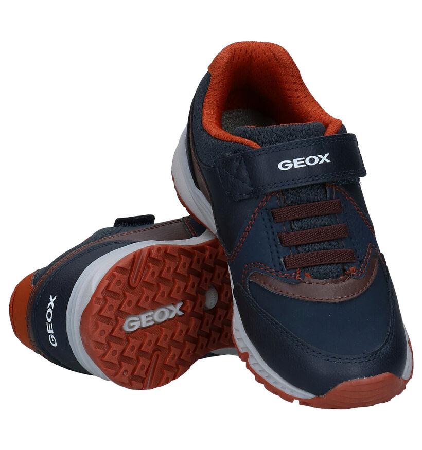 Geox Bernie Blauwe Velcroschoenen in kunstleer (277243)
