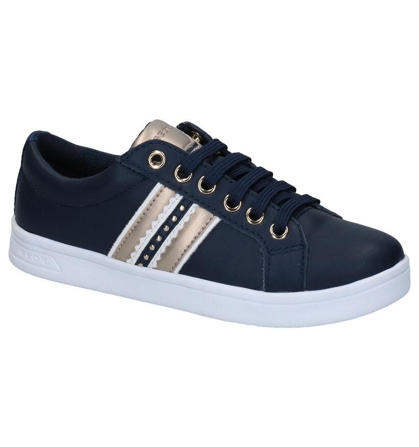 Geox Dj Rock Chaussures à lacets en Blanc en cuir (286925)