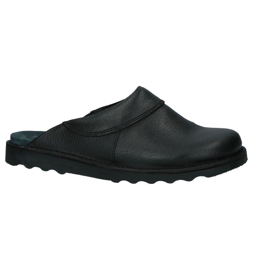 Truckers Choice Pantoufles ouvertes en Noir en cuir (221305)