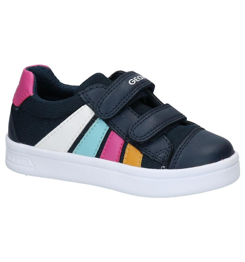 Geox DJ Rock Chaussures à velcro en Bleu en simili cuir (286932)