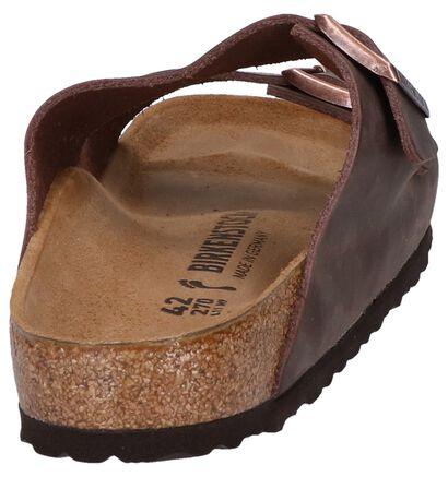 Birkenstock Arizona Bruine Slippers in leer (255785)