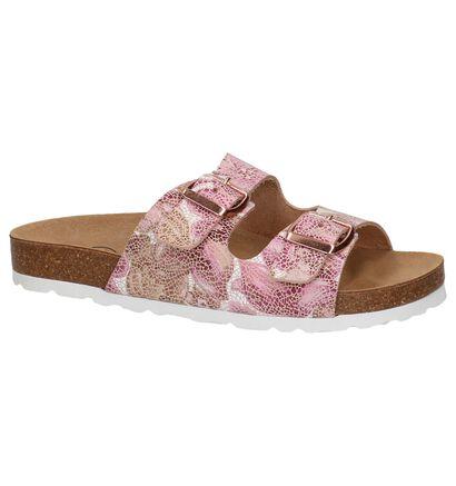 Hampton Bays Roze Slippers in leer (209309)