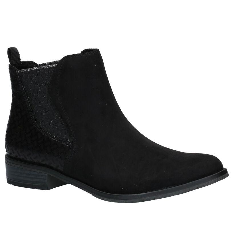 Marco Tozzi Zwarte Boots in stof (257242)