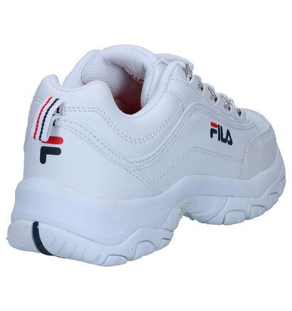 Fila Strada Low Witte Sneakers in kunstleer (256625)